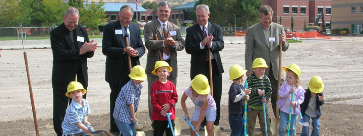 groundbreaking celebration at the EEJ ECERC building
